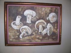 "Old Original Oil Painting ""MUSHROOMS"" * signed  *dated 1968 *framed by LIZ404 on Etsy"