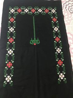 Bebe Örgü's media statistics and analytics Floral Maxi Dress, Embroidery Stitches, Cross Stitch, Crochet, Pattern, Towels, Cross Stitch Designs, Fashion For Girls, Trapper Keeper