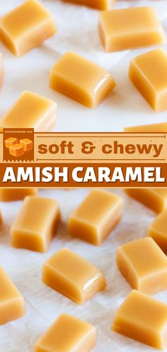 A big fan of caramel candies? Here's an easy homemade candy recipe perfect for you. These Amish caramel candies are soft, chewy, and melts in your mouth. Try this recipe for a quick and easy dessert! Easy Candy Recipes, Easy Homemade Recipes, Caramel Recipes, Homemade Candies, Fudge Recipes, Best Dessert Recipes, Easy Desserts, Fall Recipes, Delicious Desserts