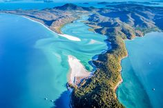 This is a shot taken from a helicopter of Whitehaven Beach in Australia. The Beach, Great Barrier Reef, World Traveler, Wedding Season, Google, Melbourne, Places To Go, Road Trip, Ocean