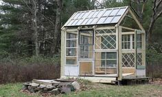 Greenhouse Constructed Using Antique Windows After Dinner Design