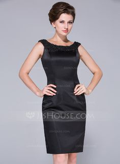 Mother of the Bride Dresses - $132.99 - Sheath Off-the-Shoulder Knee-Length Satin Mother of the Bride Dress With Beading (008025761) http://jjshouse.com/Sheath-Off-The-Shoulder-Knee-Length-Satin-Mother-Of-The-Bride-Dress-With-Beading-008025761-g25761/?utm_source=crtrem&utm_campaign=crtrem_US_28010