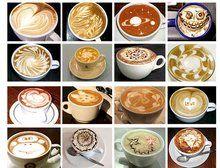 wzorki na mleku, kawie