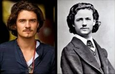 Orlando Bloom and Nicolae Grigorescu Orlando Bloom's identical twin is Nicolae Grigorescu, a founder of Romanian Modern Painting who died in 1907. Judging by his staggering looks and flair for arts, Nicolae most likely broke a few hearts in his lifetime. This is quite a good match, since Orlando has that old-fashioned handsomeness we all love too.