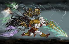 God of War Weapons final by on DeviantArt Robot Concept Art, Game Concept Art, Armor Concept, Weapon Concept Art, Jurassic Park, Jurassic World, Michael Crichton, Fantasy Character Design, Character Art
