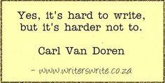 Quotable - Carl Van Doren - Writers Write