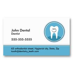 16 best dental hygiene business cards images on pinterest dental dentist and dental business or profile card accmission Choice Image