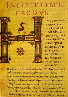 Página de la biblia  Alcuina, éxodo
