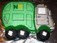 Green Gargling Garbage Truck Cake