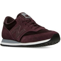 New Balance Women's 620 Frozen Metallics Casual Sneakers from Finish... ($75) ❤ liked on Polyvore featuring shoes, sneakers, burgundy, low sneakers, new balance footwear, new balance sneakers, vintage style shoes and new balance trainers