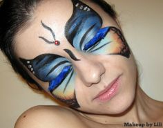Butterfly Makeup mask - OH my goodness! I am not very creative with makeup! Barely have time for regular makeup!
