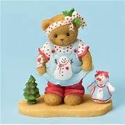 Girl in Christmas Outfit - Cherished Teddies Figurine, 402374 ...