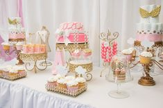 Thank Heaven For Little Girls Baby Shower via Kara's Party Ideas KarasPartyIdeas.com Printables, banners, recipes, favors, tutorials, and more! #thankheavenforittlegirls #girlbabyshower #babyshowerideas #pinkandgold #angelbabyshower #babyshowerideas (32)