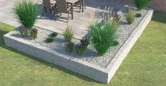 """Drywall """"Siola leicht"""" as a bedding border - Terrasse und Garten - Garden Decor Modern Landscaping, Backyard Landscaping, Back Gardens, Outdoor Gardens, Garden Planner, Pallets Garden, Balcony Garden, Raised Garden Beds, Raised Beds"""