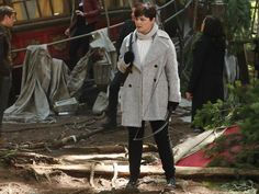 Mary Margaret Blanchard's Grey Double Breasted Coat on Once Upon A Time