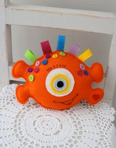 monster toy PDF sewing pattern toys for boys felt