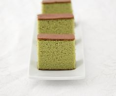 Matcha Green Tea Castella Cake | Kirbie's Cravings | A San Diego food blog