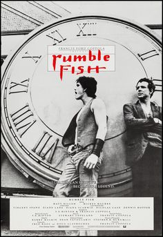 Rumble Fish (Francis Ford Coppola, 1983) US one sheet.:: Shared by The Lewis Hamilton Band :: http://www.lewishamiltonmusic.com