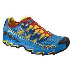 best service 6b853 6ed70 La Sportiva Ultra Raptor - Deportivos de running para hombre, color  amarillo   azul, talla 36.5