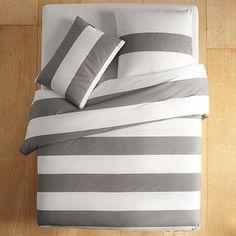 Ikea Expedit Hack: Compact Storage Bed – Jewels at Home Comforter Cover, Duvet Sets, Duvet Covers, Expedit Hack, West Elm Bedding, Country Bedding, Striped Bedding, White Bedding, Cotton Bedding