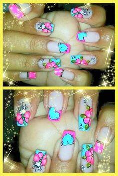 Vɨʋɨaռa Fingernail Designs, Nail Art Designs, Manicure Y Pedicure, French Tip Nails, Cute Nail Art, Fabulous Nails, Creative Nails, Hipsters, Toe Nails