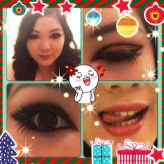 My makeup for 2012's Christmas party.