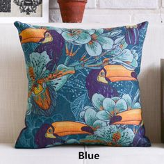 Flower pillow hand painted art linen cushions for home decoration