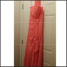 Prom/Bridesmaid dress Long, coral colored dress, Size 10, comes with same colored shawl Dresses Prom
