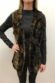 Erin London Hooded Fur Vest