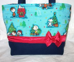 ad42783cd0 Christmas Tote Bag~Purse~Handbag~ Peanuts
