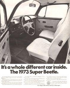 Used 1974 volkswagen super beetle for sale transport pinterest 1973 volkswagen super beetle interior shown in print ad vw bug car freerunsca Images