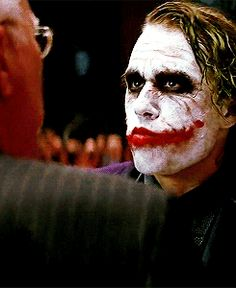 The Joker; Heath Ledger Gif