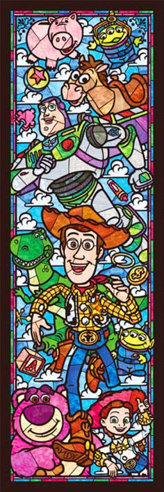 BUY 2, GET 1 FREE!Toy Story Disney Stained Glass 087 Cross Stitch Pattern Counted Cross Stitch Chart, Pdf Format/121358 by icrossstitchpattern on Etsy