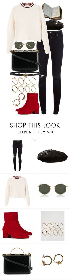 """Untitled #10963"" by nikka-phillips ❤ liked on Polyvore featuring Closed, Yves Saint Laurent, MANGO, Ray-Ban, Dorateymur, ASOS and Mark Cross"