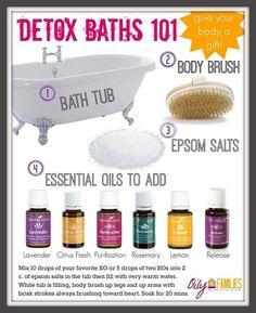 Detox Bath 101 with essential oils