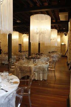 The Ghost Chair from Kartell, utilised beautifully in this amazing setting.  http://weddings.valiant.com.au/