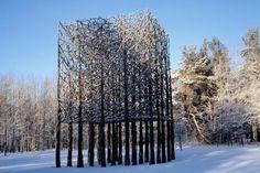 Finnish Artist Jaakko Pernu Uses Tree Branches To Make Huge Public Sculptures | Inhabitat - Sustainable Design Innovation, Eco Architecture,...