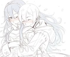 Morgan and Lucina. http://radical---dreamer.tumblr.com/post/84479068237/otp