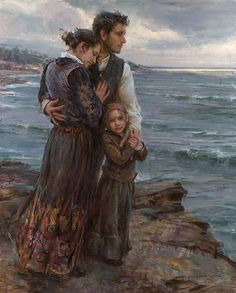 """Daniel Gerhartz  She is Not Gone:  ..... ...just at the moment when someone says, """"There! She's gone"""" - there are other eyes watching her coming, and other voices ready to take up the glad shout, """"Ahh, there she comes!"""".... And that, my friend, is dying."""