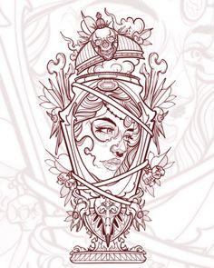 Neo Tattoo, Tatto Ink, Tattoo Outline, Tattoo Flash, Neo Traditional Art, Traditional Tattoo Art, Wolf Tattoos, Body Art Tattoos, Sleeve Tattoos