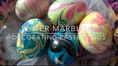 Easter eggs, marbled w/ nail polish!!!