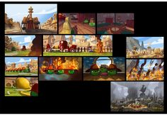 AndryBirds_Rovio_5 1 Peter, 1 John, Dreamworks, Houston, Studios, Color Script, Game Concept Art, Animation Reference, Animation Background