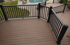 Deck skirting as Well as Black Baluster Barrier - These components are available in Satin Black (shown) Silver Vein, Copper Vein, Oil Rubbed Bronze, Oil Rubbed