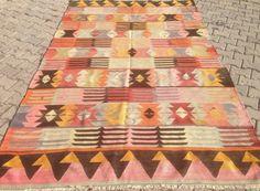 Türkischer Kelim Teppich böhmische Teppich Vintage Teppich