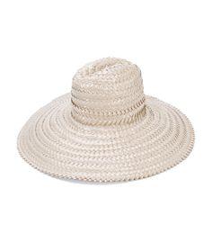 Grey straw floppy hat featuring a wide brim. ShopBAZAAR 1feed2118b9a