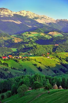 Pestera Village in Brasov County, Romania. It is a steep climb from Moeciu to Pestera, even with an SUV. But once you reach the summit, you will be literally blown away by the majesty of the scenario.