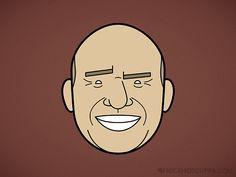 Faces of Breaking Bad - Illustrations par Rob Barrett