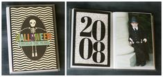 Last week we shared with you our little Halloween accordion album and this week we want to share with you another idea for those costume photos. what you'll need • $1 plastic 4×6 photo album (found this one at walmart) • black cardstock • 4×6 photos • Halloween Through the Years 4×6 title page (download …