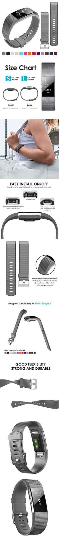 Bepack Band for Fitbit Charge 2 , Soft TPU Adjustable Sport Strap Band for Fitbit Charge 2 Smartwatch Heart Rate Fitness Wristband