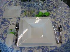 Three Looks For Square Silver Plates | Pinterest | Plastic dinnerware Weddings and Wedding & Three Looks For Square Silver Plates | Pinterest | Plastic ...